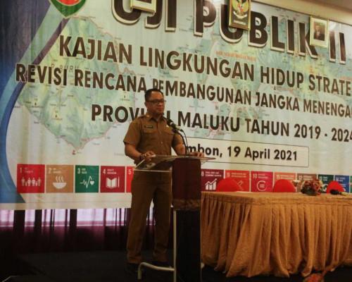 Sekda Buka Uji Publik Tahap II KLHS revisi RPJMD Maluku Tahun 2019 - 2024