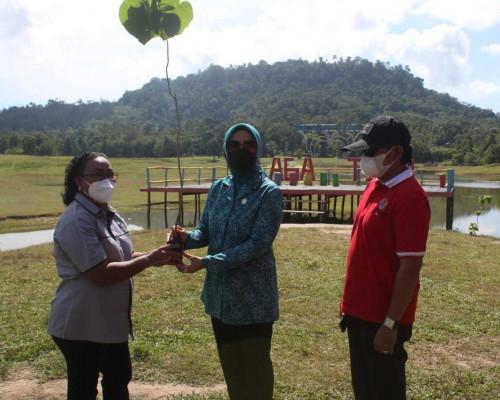 TP PKK Maluku Lakukan Aksi Penanaman Pohon Hijaukan Lingkungan di Suli